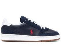 Court Sneakers mit Wildlederbesatz