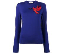 Pullover mit Vogel-Patch - women