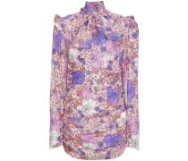 Neck Tie Floral Mini Dress