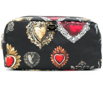Sacred Heart print makeup bag