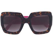 Oversized-Sonnenbrille mit glitzernden Bügeln