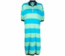 striped knit polo dress