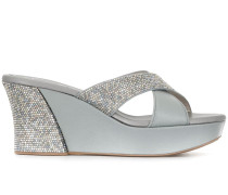 Plateau-Sandalen mit Kristallen