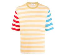 Gestreiftes T-Shirt in Colour-Block-Optik