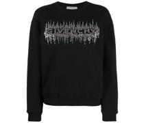 Sweatshirt mit Kristall-Logo