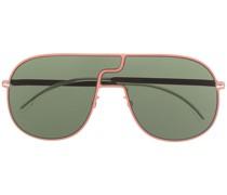 Getönte Oversized-Pilotenbrille