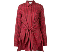 front tied stripe shirt