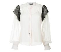 Semi-transparente Bluse mit Spitze