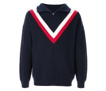 Pullover mit halblangem Reißverschluss