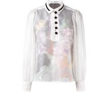 Semi-transparente Bluse mit Knopfleiste - women