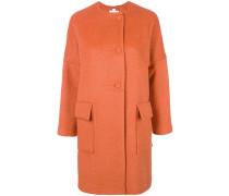 dropped shoulder coat