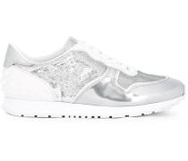 Metallische Sneakers mit Schnürung