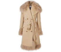 Trenchcoat mit Shearling