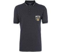 Gepunktetes Poloshirt