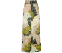 floral-print wide-leg trousers