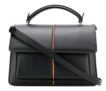 Kleine Handtasche mit Kontrastdetail