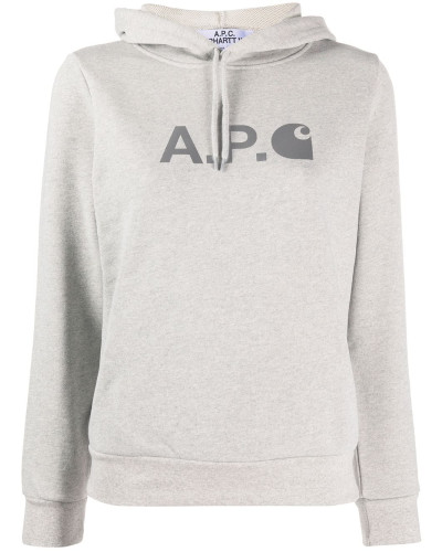 A.P.C. Kapuzenpullover mit Logo-Print