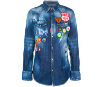 scout patch denim shirt