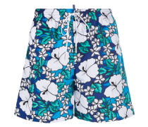Hawaiian floral print swim shorts
