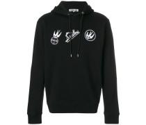 Skater Swallow badge hoodie