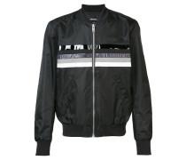 printed stripe bomber jacket - men - Nylon - M