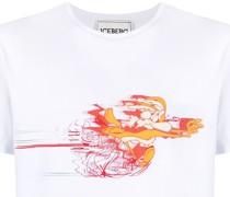 T-Shirt mit Kojoten-Print