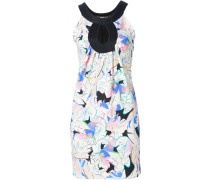 Ärmelloses Kleid mit Blätter-Print