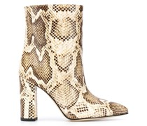 pointed snakeskin effect boots