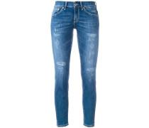CroppedSkinnyJeans in DistressedOptik