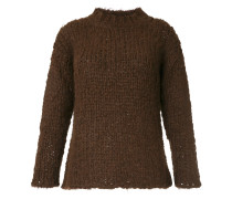 cable-knitted sweater