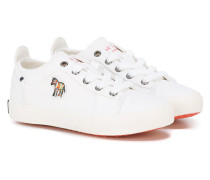 Sneakers mit Logo-Patch - kids - Canvas/rubber