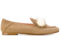Loafer mit Pompon-Applikation
