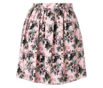 jacquard pleated mini skirt