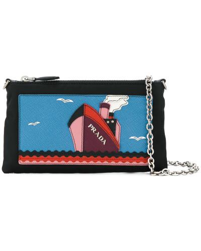 Prada Damen Portemonnaie mit Logo-Patch Auslass Niedrig Versandkosten  nAVRs36d 3798c10271