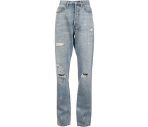 Boyfriend-Jeans mit Distressed-Optik