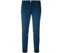 slim fit trousers - women - Baumwolle/Elastan