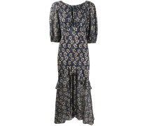 Cheryl floral print silk dress