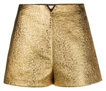 'VGOLD' Shorts in Metallic-Optik