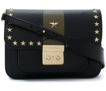 star stud detailed shoulder bag