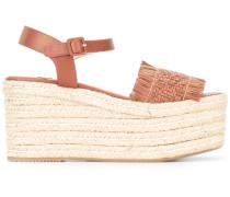 - Wedge-Sandalen mit gewebtem Riemen - women
