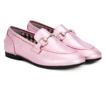 Jordaan metallic loafers