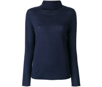fitted roll-neck top