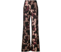 flared patterned trousers