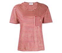 Gestreiftes T-Shirt mit Brusttasche