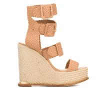 - Wedge-Sandalen mit Flechtriemen - women