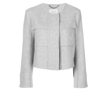 Cropped-Jacke mit Brusttaschen