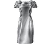 Kariertes Kleid mit kurzen Ärmeln
