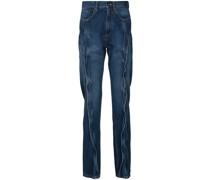 Gerade Jeans mit abstehender Naht