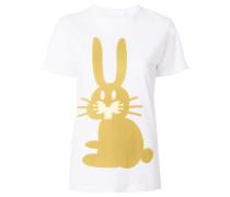 T-Shirt mit Kaninchen-Print