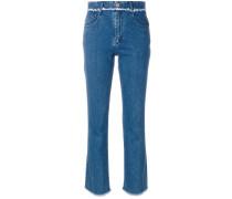 Jeans mit ausgefranstem Saum